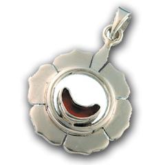 Chakra vedhæng 2 Chakra - Svadhishthanaa - Harachakraet - 30mm - u/kæde