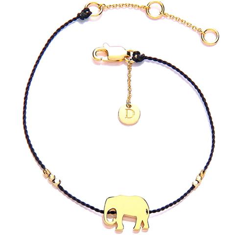 Good Karma Elefant Armbånd - Forgyldt