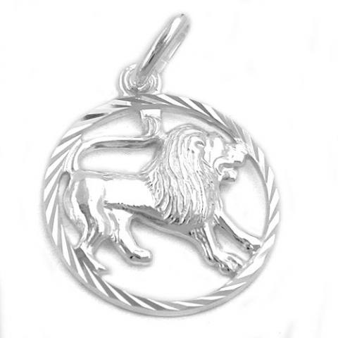 Vedhæng Løven Stjernetegn  - 20mm - u/kæde