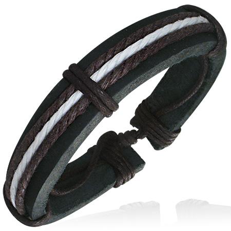 Læderarmbånd -  3 farvet