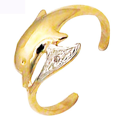 Tåring Guld med Delfin og Diamant