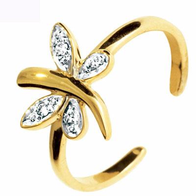 Tåring Guld med Guldsmed og Diamanter