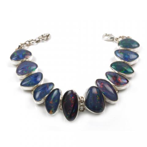 Sølvarmbånd med Opal