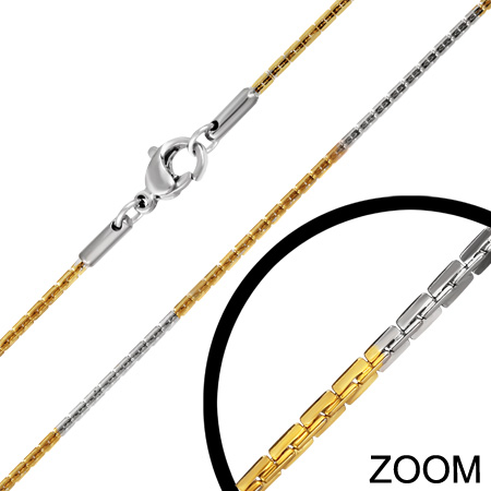 Stålkæde - 1.4mm - 46cm