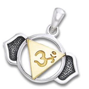 Chakra vedhæng 6 Chakra Ajna Pinealchakraet 23mm ukæde (877)