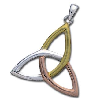 Vedhæng med Triquetra - Treenighedssymbolet - 34mm - u/kæde