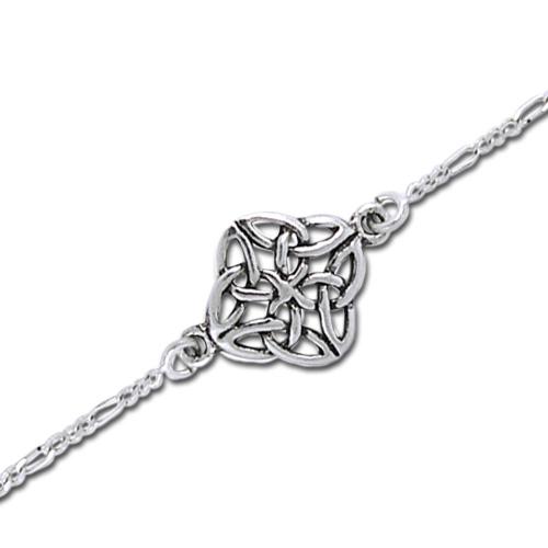 Ankelkæde med Keltisk knude mønster 22cm (3585)
