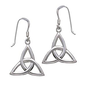 Øreringe med Triquetra - Treenighedssymbolet - 31mm - pr sæt