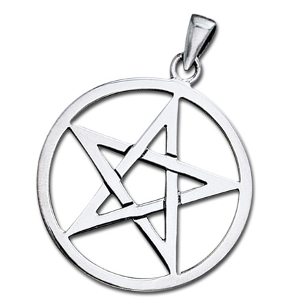Vedhæng med Pentagram ukæde (3516)