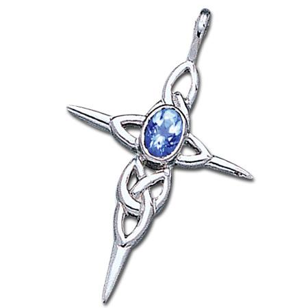 Keltisk kors med Safir ukæde (3524)