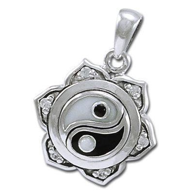 Yin Yang Lotus vedhæng ukæde (3491)