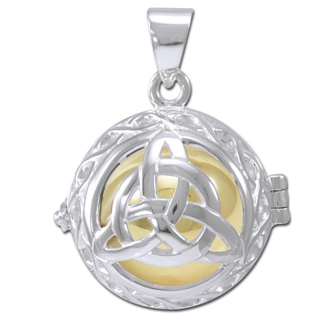 Engleklokke Harmony ball med Treenighedssymbol ukæde (3640)
