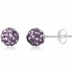 Ørestikker med Swarovski krystaller - Ø6mm - pr par