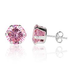 Ørestikker med Pink Zirkonia Ø8mm pr par (2480)