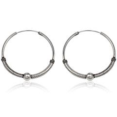 Sølv øreringe / hoops - Ø42mm - pr sæt