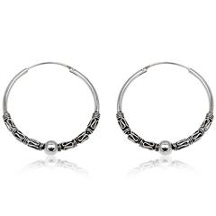 Sølv øreringe / hoops - Ø40mm - pr sæt
