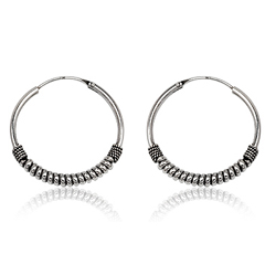 Sølv øreringe / hoops - Ø33mm - pr sæt