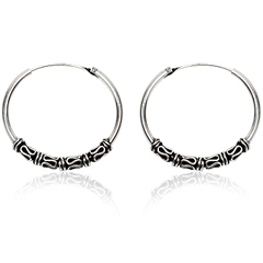 Sølv øreringe / hoops - Ø32mm - pr sæt
