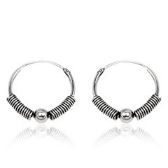 Sølv øreringe hoops Ø16mm pr sæt (2099)