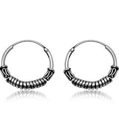 Sølv øreringe / hoops - Ø20mm - pr sæt