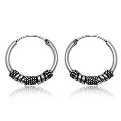Sølv øreringe / hoops - Ø22mm - pr sæt