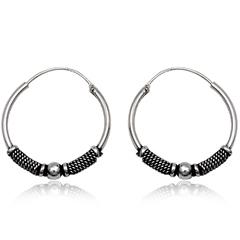 Sølv øreringe / hoops - Ø26mm - pr sæt