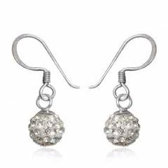 Øreringe med Swarovski krystaller 21mm pr par (2617)