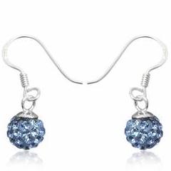 Øreringe med Swarovski krystaller 22mm pr par (2991)