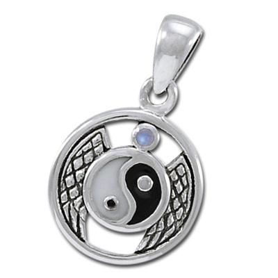 Yin Yang vedhæng med Månesten ukæde (3487)