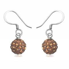 Øreringe med Swarovski krystaller 21mm pr par (2998)