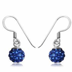 Øreringe med Swarovski krystaller 22mm pr par (2990)