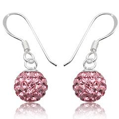 Øreringe med Swarovski krystaller 21mm pr par (3003)