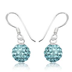 Øreringe med Swarovski krystaller 24mm pr par (2616)