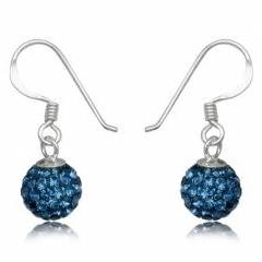 Øreringe med Swarovski krystaller 21mm pr par (2607)