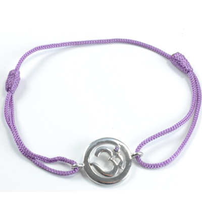Image of   Chakra Aum Armbånd - 7 Chakra - med Ametyst - 14mm