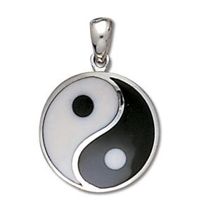 Yin Yang vedhæng - 29mm - u/kæde