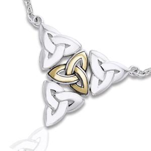 Image of   Halskæde med Triquetra - Treenighedssymbolet