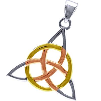 Image of   Vedhæng med Triquetra - Treenighedssymbolet - 36mm - u/kæde