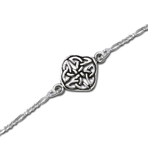 Ankelkæde med Keltisk knude mønster - 22cm