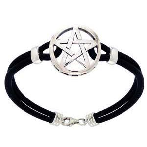 Image of   Armbånd med Pentagram - 21cm