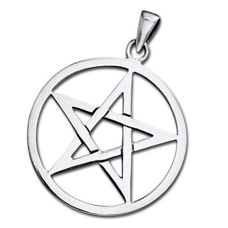 Image of   Vedhæng med Pentagram - u/kæde
