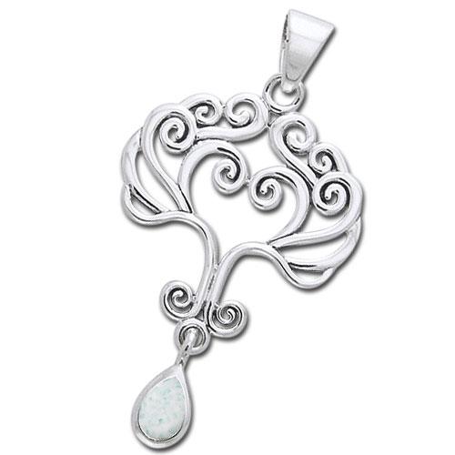 Image of   Vedhæng Livets Træ med Opal - u/kæde