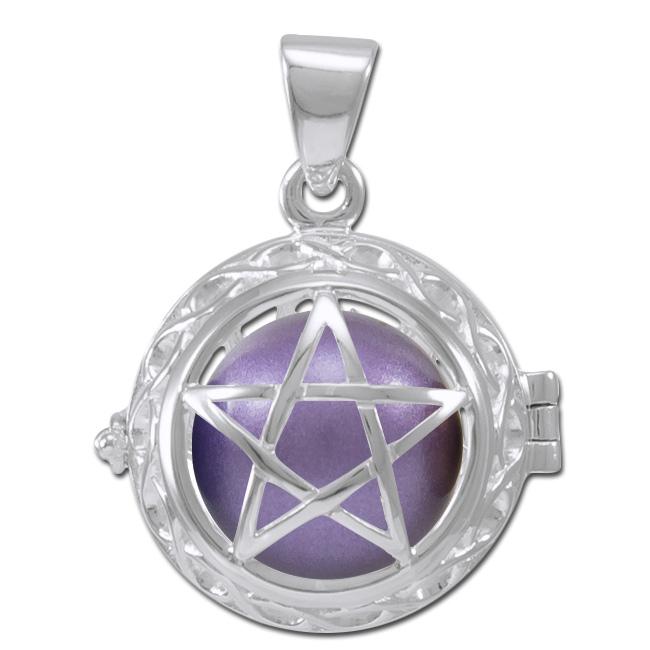 Image of   Engle kalder / Engleklokke med Pentagram - u/kæde