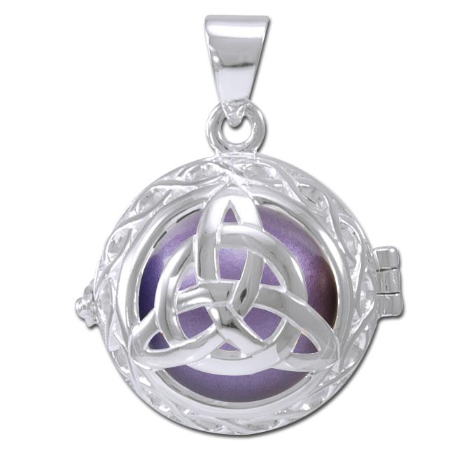 Image of   Engle kalder / Engleklokke med Treenighedssymbol - u/kæde