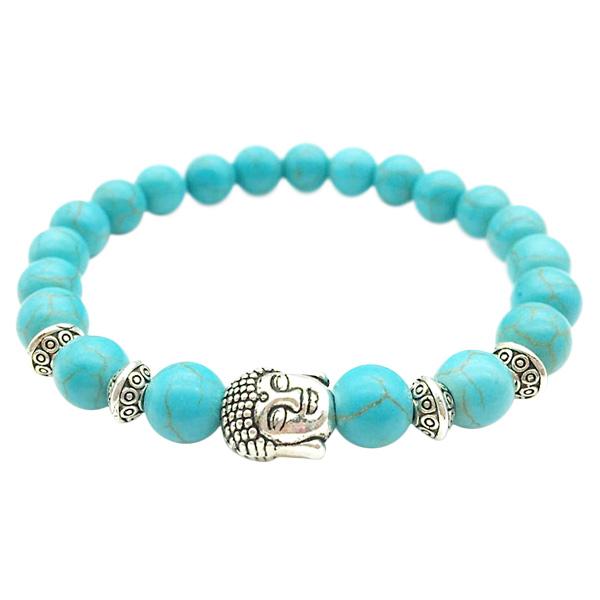 Image of Buddha armbånd - Lykkearmbånd - Turkis