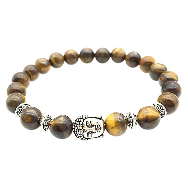 Image of   Buddha armbånd - Lykkearmbånd - Tigerøje