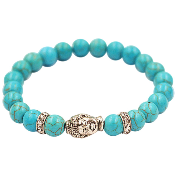 Buddha armbånd - Lykkearmbånd - Blå Turkis