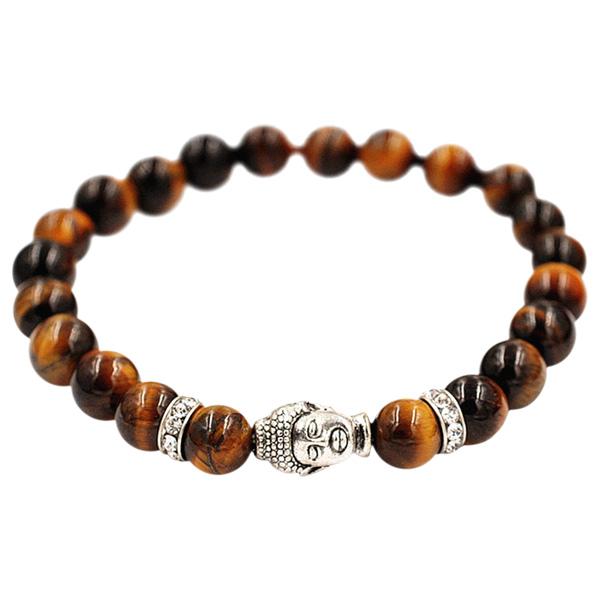 Buddha armbånd - Lykkearmbånd - Tigerøje