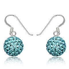 Øreringe med Swarovski krystaller - 24mm - pr par