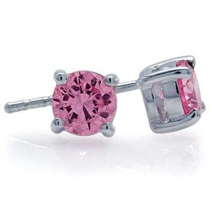 Ørestikker med Pink Zirkonia - Ø6mm - pr par
